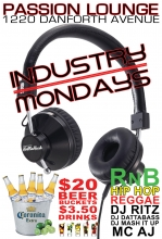 Industry Mondays with Rollin Rush @ Passion Lounge